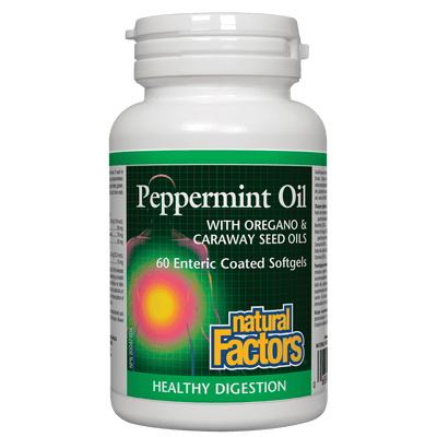 Peppermint Oil  with Oregano & Caraway Seed Oils  Enteric Coated Softgels
