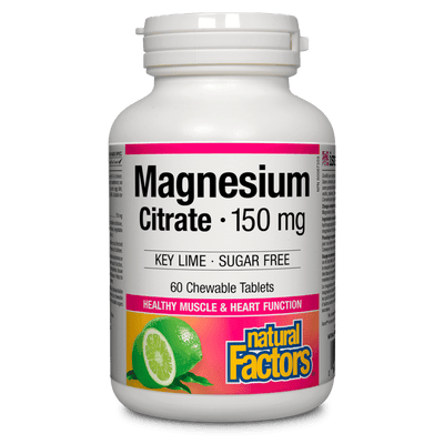 Magnesium Citrate 150 mg, Key Lime  Sugar Free Chewable Tablets