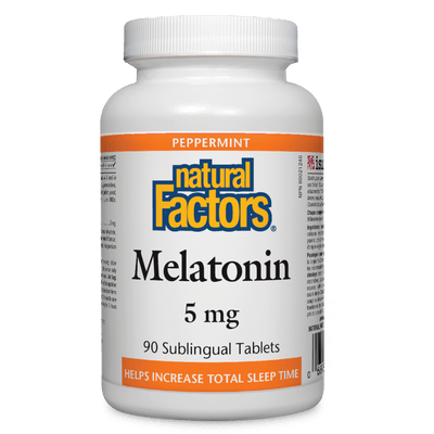 Melatonin 5 mg, Peppermint Sublingual Tablets