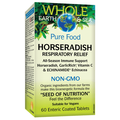 Horseradish Respiratory Relief, Whole Earth & Sea Enteric Coated Tablet