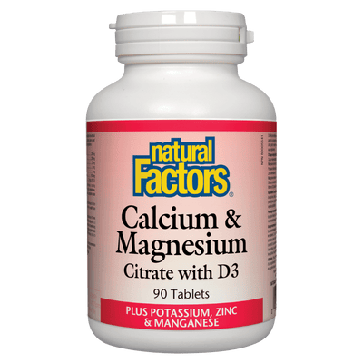 Calcium & Magnesium Citrate with D3  Plus Potassium, Zinc & Manganese  Tablets