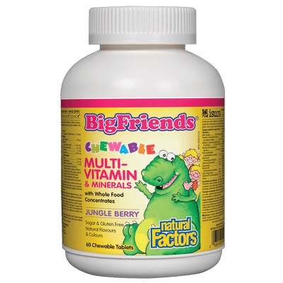 Chewable Multivitamin & Minerals, Jungle Berry Big Friends Chewable Tablets
