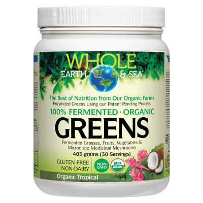 Fermented Organic Greens, Organic Tropical, Whole Earth & Sea Powder