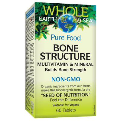 Bone Structure Multivitamin & Mineral, Whole Earth & Sea Tablets