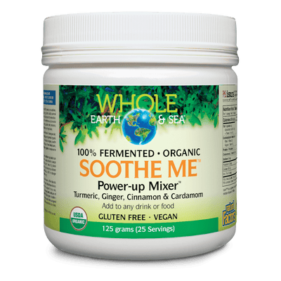 Soothe Me Power-Up Mixer Turmeric, Ginger, Cinnamon & Cardamom, Whole Earth & Sea Powder
