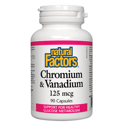 Chromium & Vanadium  125 mcg Capsules