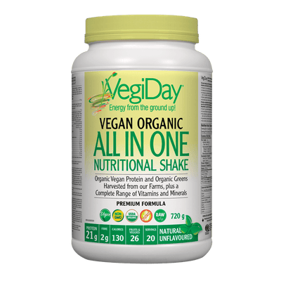 VegiDay Vegan Organic All in One Nutritional Shake Natural Unflavoured Powder