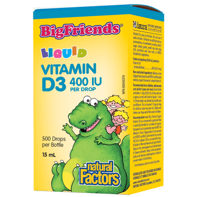 Liquid Vitamin D3 400 IU per Drop Big Friends Liquid