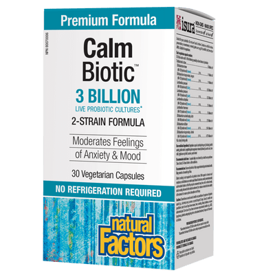 Calm Biotic  3 Billion Live Probiotic Cultures Vegetarian Capsules