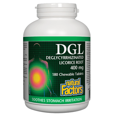 DGL Deglycyrrhizinated Licorice Root 400 mg Chewable Tablets