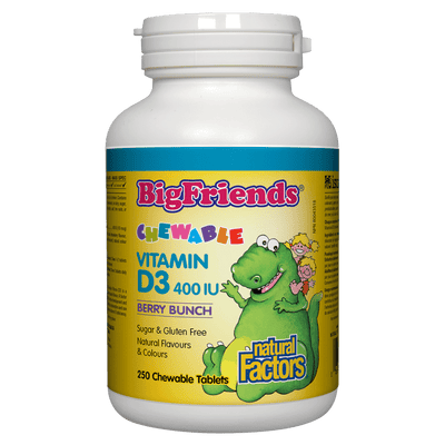 Chewable Vitamin D3 400 IU, Berry Bunch Big Friends Chewable Tablets