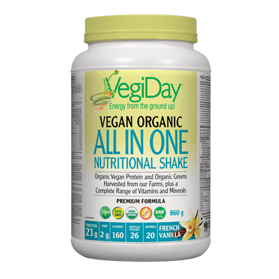 VegiDay Vegan Organic All in One Nutritional Shake French Vanilla Powder