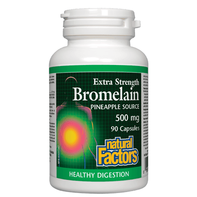 Bromelain Extra Strength, Pineapple Source 500 mg Capsules