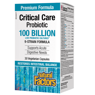 Critical Care Probiotic   100 Billion Live Probiotic Cultures Vegetarian Capsules