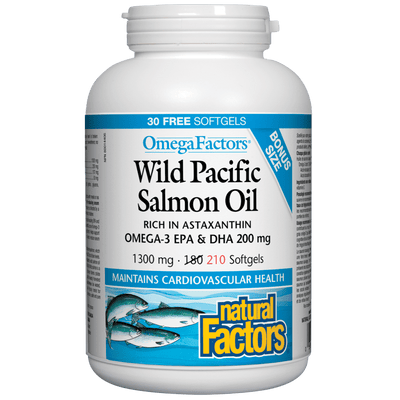 Wild Pacific Salmon Oil 1000 mg, OmegaFactors Softgel