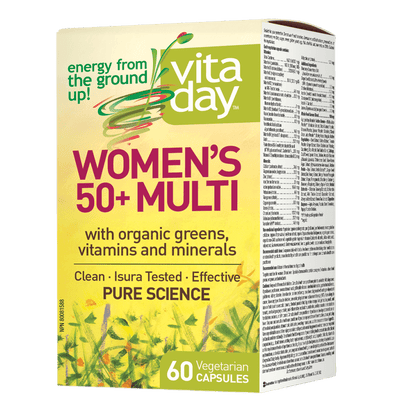 Womens 50+ Multi, VitaDay Vegetarian Capsules