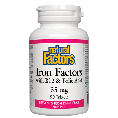 Iron Factors with B12 & Folic Acid 35 mg Tablets