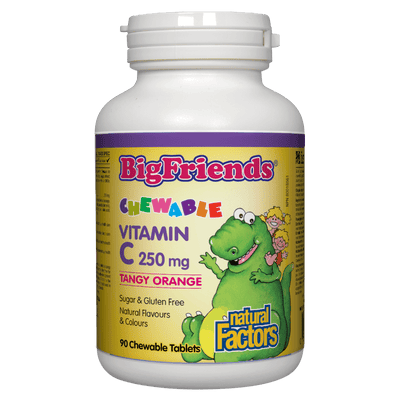 Chewable Vitamin C 250 mg, Tangy Orange Big Friends Chewable Tablets