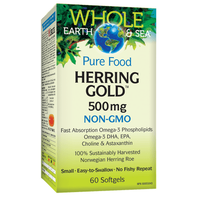 Herring Gold 500 mg, Whole Earth & Sea Softgels