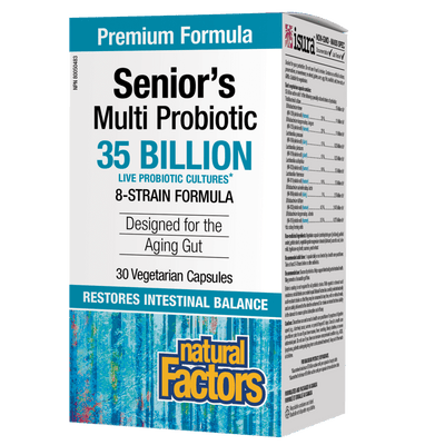 Senior's Multi Probiotic 35 Billion Live Probiotic Cultures Vegetarian Capsules