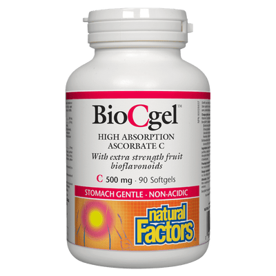BioCgel High Absorption Ascorbate C 500 mg Softgels