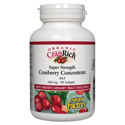 Organic CranRich Super Strength Cranberry Concentrate 500 mg Softgels
