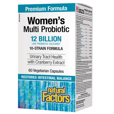 Women's Multi Probiotic  12 Billion Live Probiotic Cultures Vegetarian Capsules