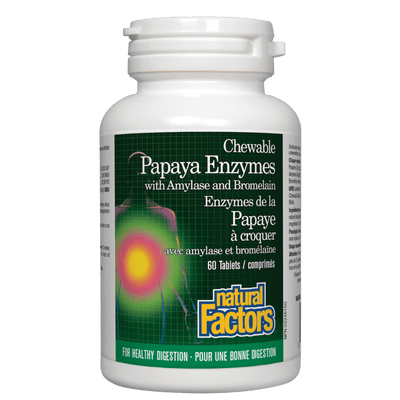 Papaya Enzymes with Amylase and Bromelain  Chewable Tablets