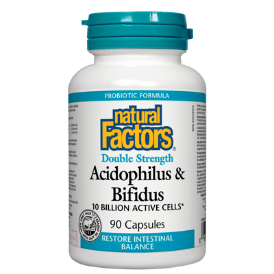 Acidophilus & Bifidus  Double Strength 10 Billion Active Cells Capsules
