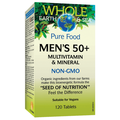 Men's 50+ Multivitamin & Mineral, Whole Earth & Sea Tablets