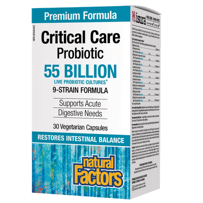 Critical Care Probiotic  55 Billion Live Probiotic Cultures Vegetarian Capsules