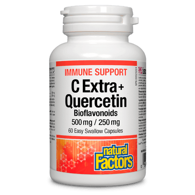 C Extra + Quercetin 500 mg / 250 mg Bioflavonoids Easy Swallow Capsules