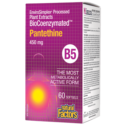 BioCoenzymated Pantethine B5 450 mg Softgels