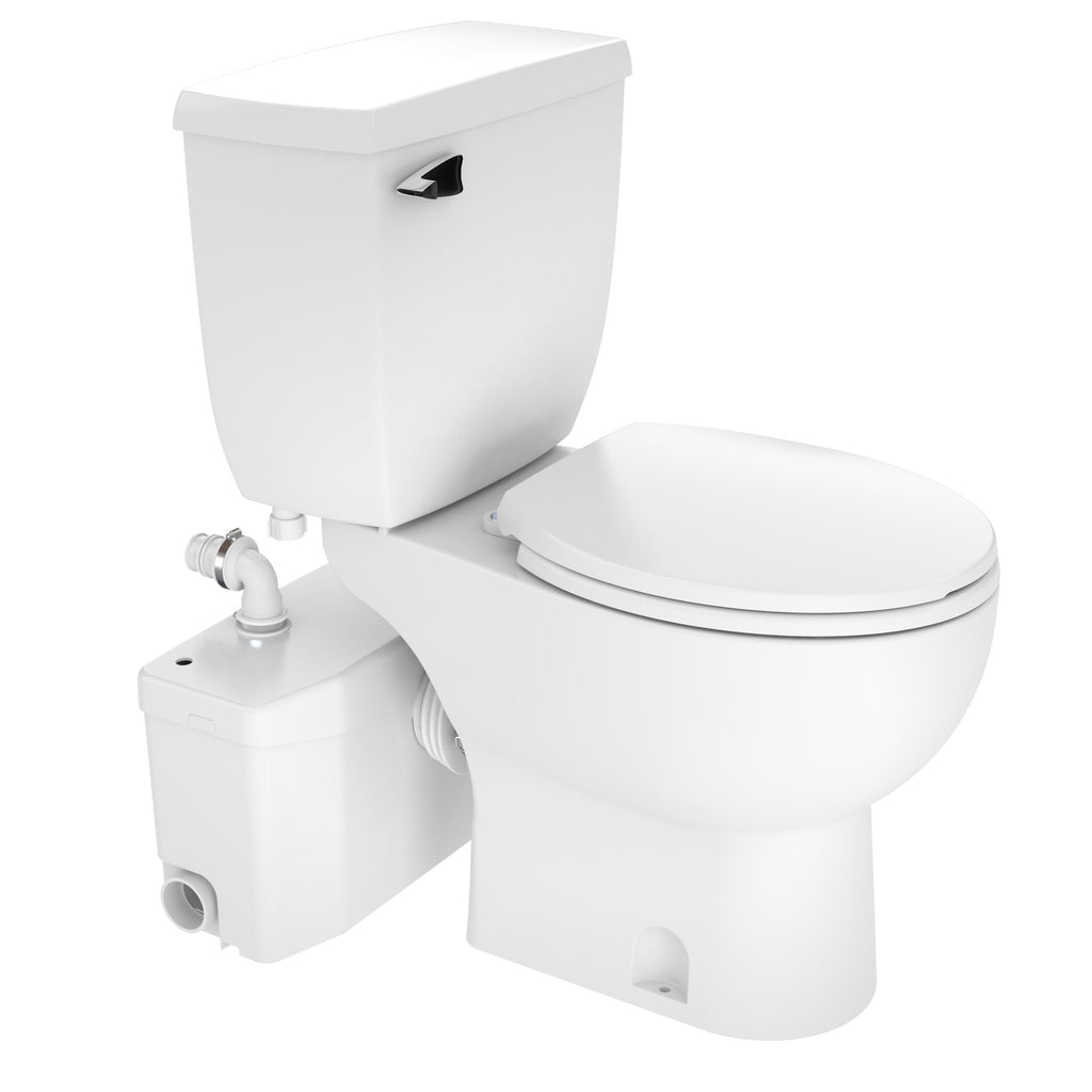 Saniflo SaniPLUS Upflush Toilet KIT: Macerator Toilet + Pump