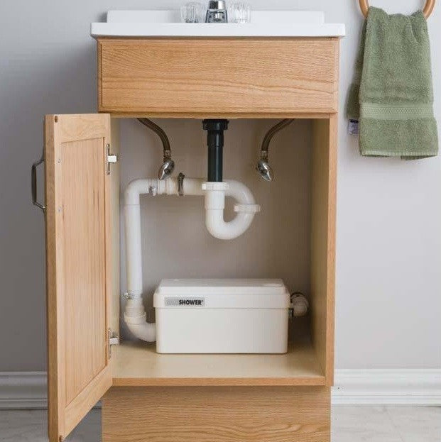saniflo pump under sink