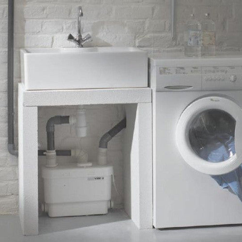 saniflo grey water pump laundry room