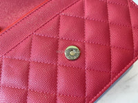 Chanel AP1794  Wallet on Chain B04335 Red