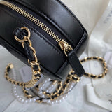 Chanel AP0888 Clutch Small Classic Box with Chain Lambskin Bag Black