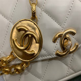 Chanel AS2222  flap bag  B04424 94305 lambskin Beige