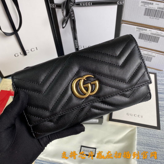 Gucci 443436 GG Marmont Wallet Black