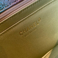 Chanel A70328 2.55 wallet on chain Metallic Goatskin  bag Multicolor