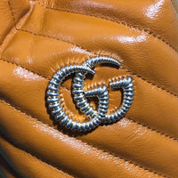 Gucci 575163 GG Marmont mini bucket bag Tan