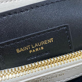 YSL 494699 Saint Laurent loulou 487218 small matelasse y  leather Biege