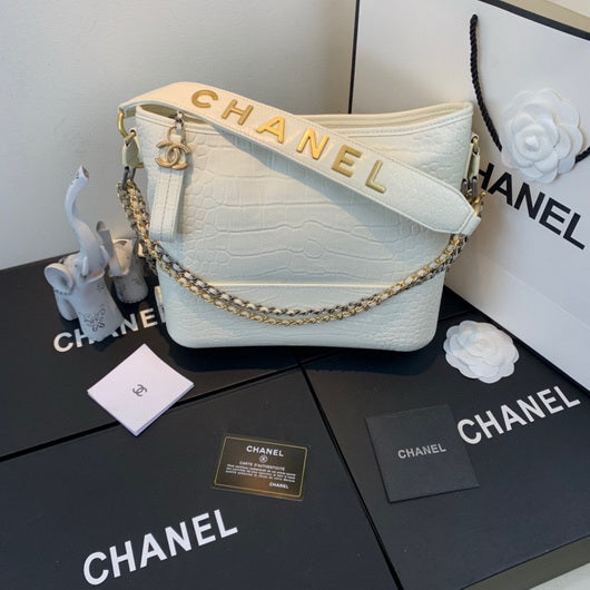 Chanel A93824 Chanel gabrielle large hobo handbag White
