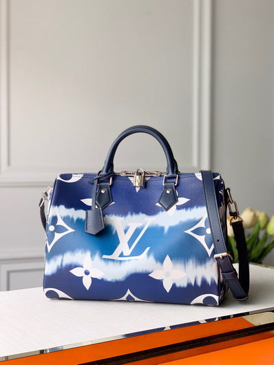 LV M45146 Louis Vuitton Blue escale speedy bandouliere 30