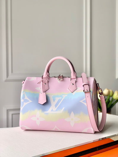 LV M45146 Louis Vuitton Pink escale speedy bandouliere