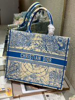 Dior M1286 Book Tote Bag Christian Dior Shoulder Shopping Blue glod