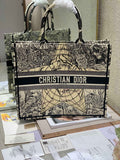 Dior M1286 Book Tote Bag Christian Dior Shoulder Shopping black glod
