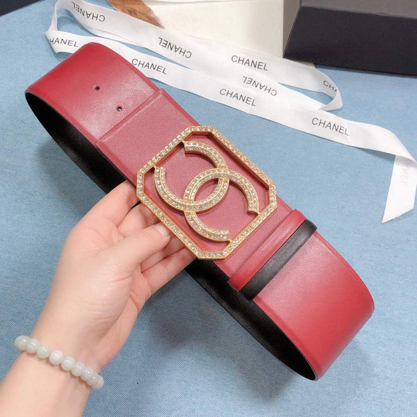 Chanel Belts Designer CC Buckle Leisure belt wide 7.0CM AA0443