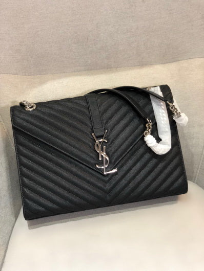 YS 342023 Classic Large Bag Yves Saint Laurent Shoulder bag black sliver